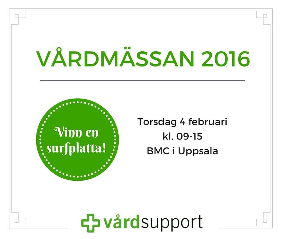 Träffa oss på Vårdmässan i Uppsala!